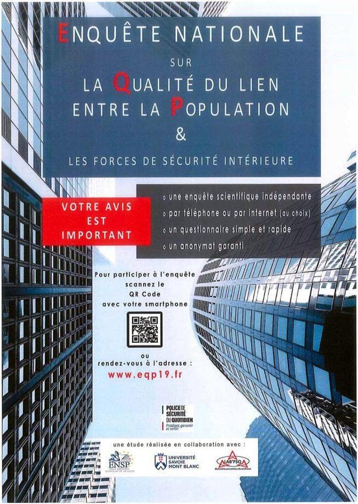 Affiche enquete nationale France police forces ordre lien population people avis officiel site web Montceau-news.com 060619
