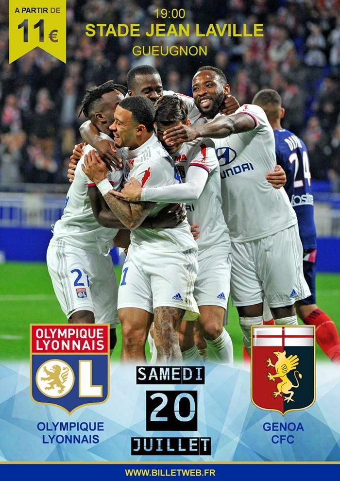 Bilets match OL Genoa stade Jean Laville Gueugnon Montceau-news.com 200619