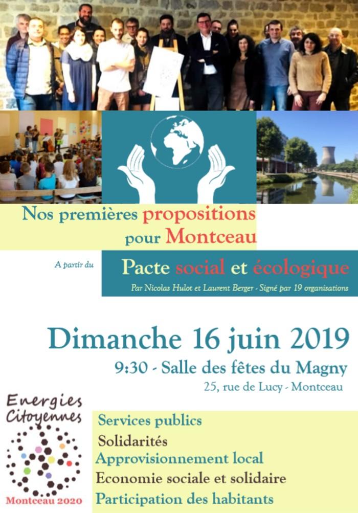 Energies meeting citoyennes politique Montceau campagne municipales2020 Eric Commeau environnement propositions Nicolas Hulot CFDT Laurent Berger soutien Montceau-news.com 080619