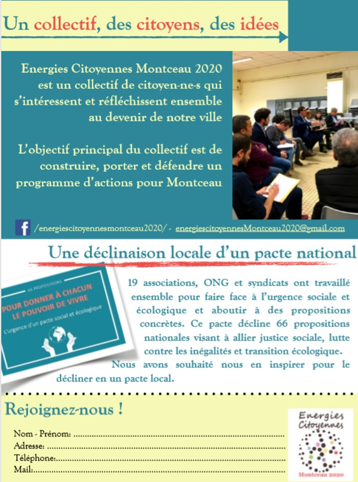 Energies meeting citoyennes politique Montceau campagne municipales2020 Eric Commeau environnement propositions Nicolas Hulot CFDT Laurent Berger soutien Montceau-news.com 0806191