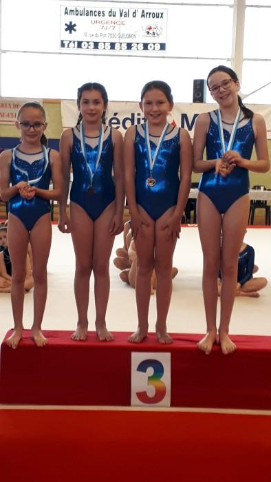 Etoile Gymnique gym gymnastique Ciry noble championnat young filles girls podium Montceau-news.com 14065192
