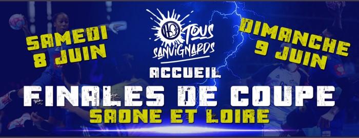 Handball club Sanvignes Finales des coupes de Saone et Loire sport meeting competition championnat flyer site web Montceau-news.com 040619