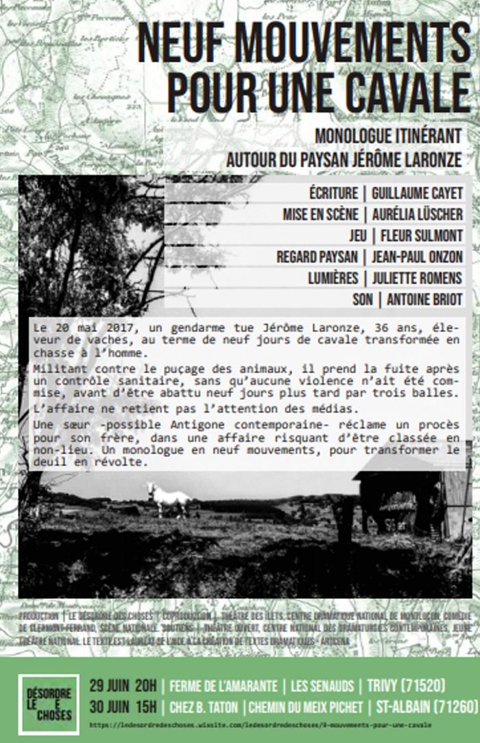 Jerome Laro paysin mort crime gendarme cavale fuite manifestation meeting drame auteur texte Guillaume Cayet Fleur Sulmont Montceau-news,com 220619