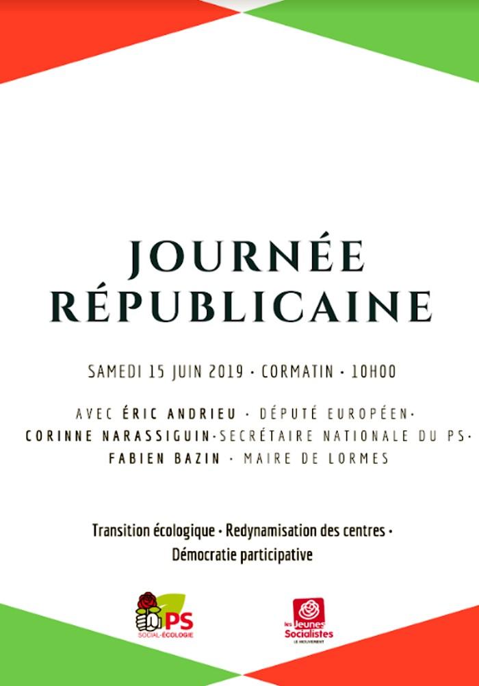 Journee PS parti socialiste politique meeting reconstruction gauche mobilisation flyer Montceau-news.com 070619