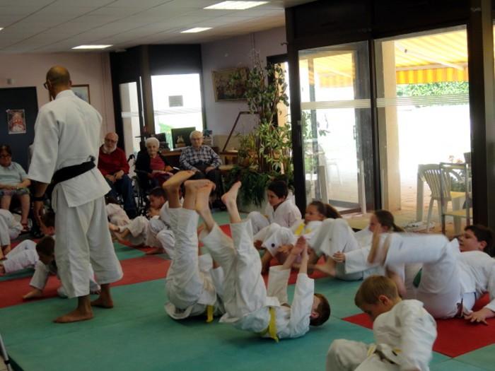 Judo olympiade au Centre Hospitalier La Guiche EHPAD animation compte-rendu site web Montceau-news.com 2106191