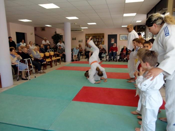 Judo olympiade au Centre Hospitalier La Guiche EHPAD animation compte-rendu site web Montceau-news.com 2106194