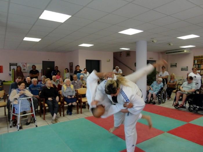 Judo olympiade au Centre Hospitalier La Guiche EHPAD animation compte-rendu site web Montceau-news.com 2106196