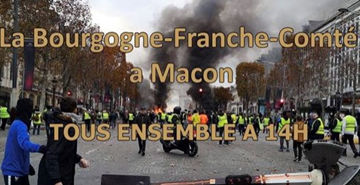 Syndicat Solidaires gilets jaunes manifestation Macon rassemblment national luin 2019 social poltqie Montceau-news.com 120619