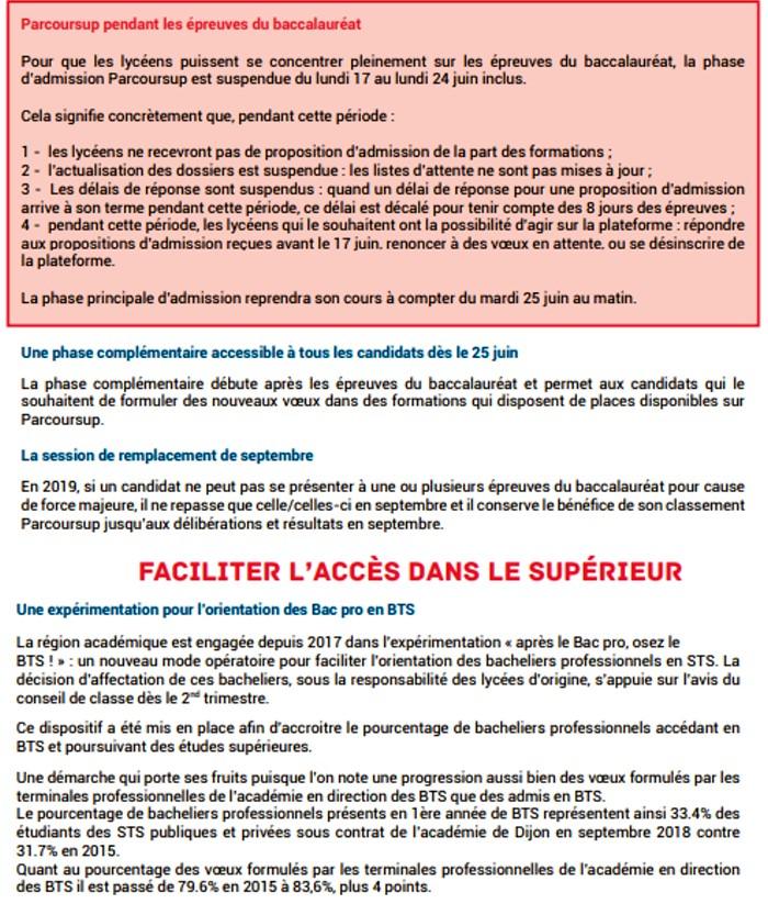 presentation Bac baccalaureat 2019 rectorat Dijon organisation concours examen lutte fraude triche Montceau-news.com 1306197