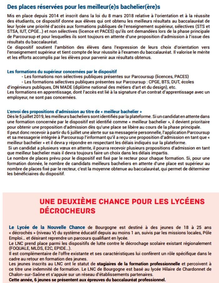 presentation Bac baccalaureat 2019 rectorat Dijon organisation concours examen lutte fraude triche Montceau-news.com 1306198