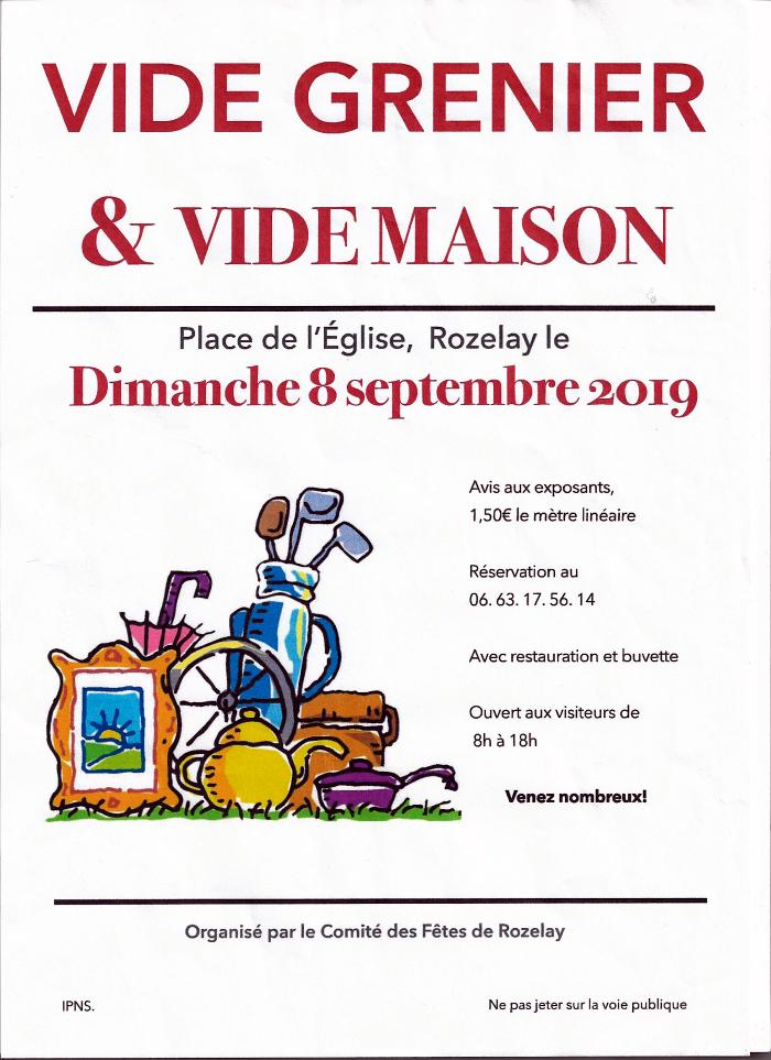 Vide Maison Et Vide Grenier A Rozelay Sortir Montceau News L Information De Montceau Les Mines Et Sa Region